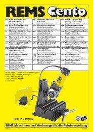 Maschinen und Werkzeuge für die Rohrbearbeitung - Walsh ...