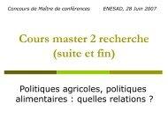 La Politique Agricole Commune - Inra