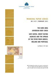 The Euro area sovereign debt crisis: safe haven, credit rating ... - ssisi