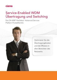 Ciena Service-Enabled WDM Transport and Switching A4 product ...