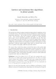 Lattices and maximum flow algorithms in planar graphs - ZAIK