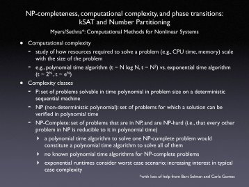 NP-completeness, computational complexity, and phase transitions ...
