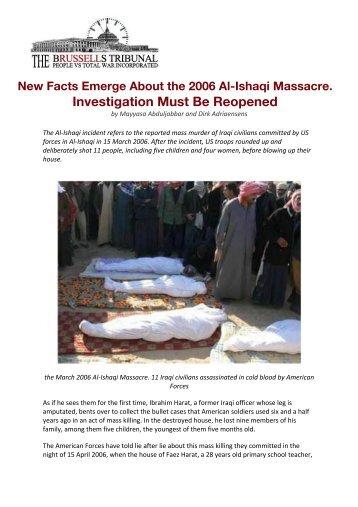 New Facts Emerge About the 2006 Al-Ishaqi Massacre. Investigation ...