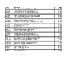 Art.-Nr. Bezeichnung Preis MV01-082 TV-Lupe ... - beim BHVD!