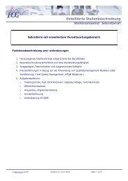 Detaillierte Stellenbeschreibung Stellenangebot ... - ECG GmbH Berlin