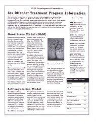 SOTP Development Committee 12/2011 Newsletter - Defense for SVP