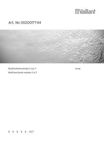 instrukcja instalacji moduÃ…Â'u VR 40 - Vaillant