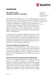 Zur Pressemitteilung iBin - Bestände im Blick - Würth Industrie ...