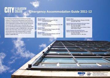 Emergency Accommodation Leaflet.pdf - City of Glasgow College