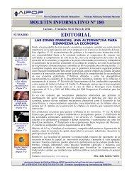 Boletín Informativo Nº 180 del 04 de Mayo de 2014