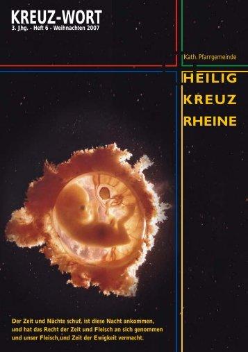 3. Jhg. - Heft 6 - Weihnachten 2007 - Heilig-Kreuz