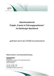 """Abschlussbericht Projekt """"Frauen in ... - Hamburger Sportbund e.V."""