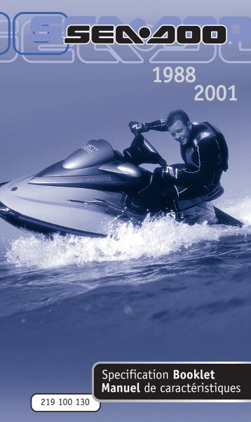 Specification booklet 1988-2001 - Sea-Doo.net