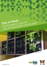 Environment Grants and Sponsorship Guidelines ... - EcoHub Perth