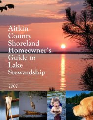 Aitkin County Shoreland Homeowner's Guide to Lake Stewardship