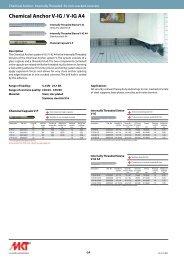 Chemical Anchor V-IG / V-IG A4