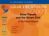 Solar Panels and the Smart Grid in the Pepco ... - Solar Decathlon