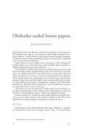 Olaibarko euskal bertso papera - Dialnet