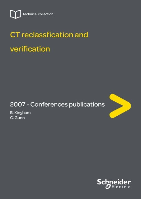 CT reclassfication and verification - Schneider Electric