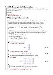 1.) Abelsche partielle Summation