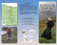 2013 Descriptive Brochure - Alaska Geobotany Center - University ...