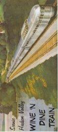 Wine 'n Dine Train Brochure - Rail & Cruise Travel Center
