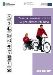 Zasada równości szans w projektach PO RPW - Program Rozwój ...