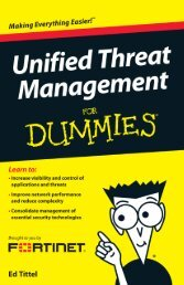 Unified Threat Management For Dummies® - Fortinet