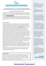 SIR World Report 2011 - CHEO Research Institute