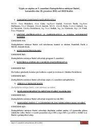 výpis z 3. zápisu