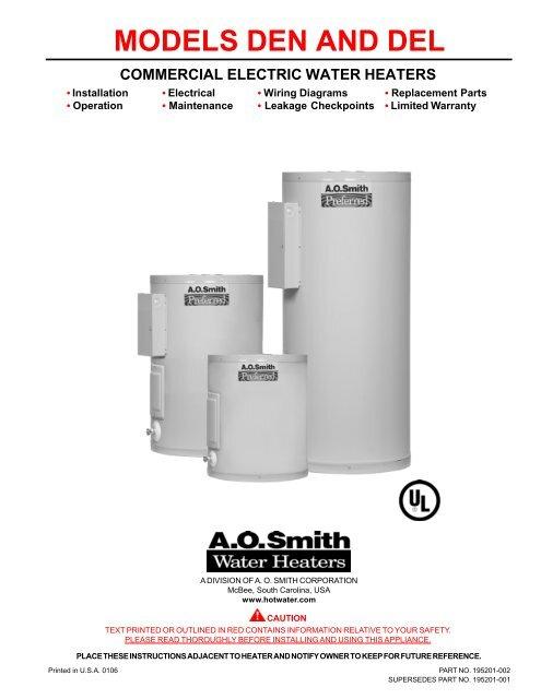 Ao Smith Water Heater Wiring Diagram from img.yumpu.com