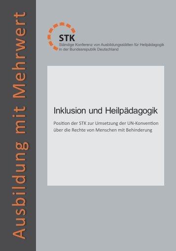 Ausbildung mit Mehrw ert - STK Heilpädagogik