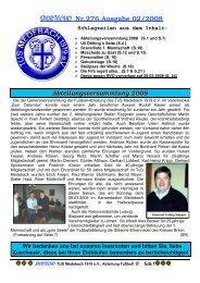 SPORTECHO Nr.276,Ausgabe 02/2008 - Tus Medebach 1919 e.V.