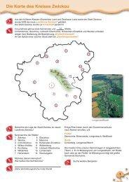 Die Karte des Kreises Zwickau - Meine Heimat