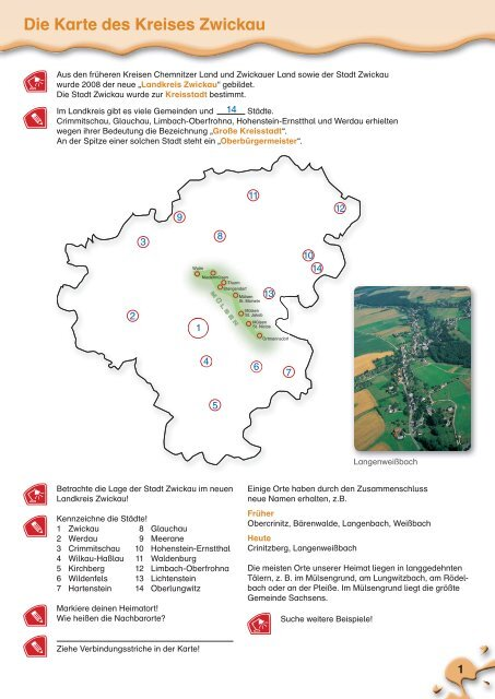 Zwickau Karte.Die Karte Des Kreises Zwickau Meine Heimat