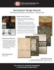 Grouted Backsplash Boards