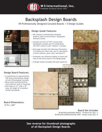 Grouted Backsplash Boards
