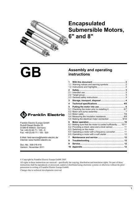 Troubleshooting Electric Motor Manual: Application Maintenance Installation