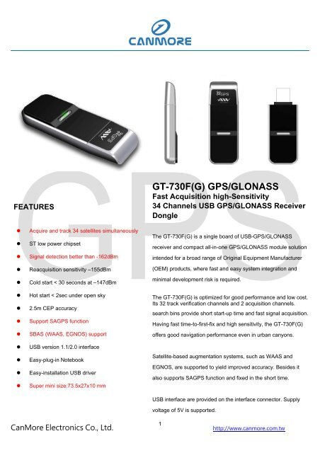 GPS USB DONGLE GT-730FL DRIVERS FOR MAC