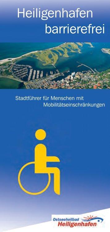 """PDF-Download / Broschüre """"Heiligenhafen Barrierefrei"""""""