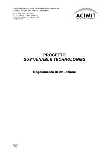 PROGETTO SUSTAINABLE TECHNOLOGIES - Acimit