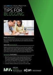 tips for blogging [PDF - Australian Communications Consumer ...