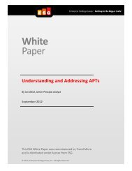 Understanding and Addressing APTs - Security for ... - Trend Micro