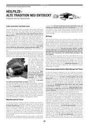 Heilpilze– Alte trAdition neu entdeckt - GFVS