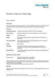 Information – Contract work – Powder coating - Kollinger Metallbau