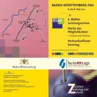 Programmflyer Baden-Württemberg-Tag - Heimattage Buehl