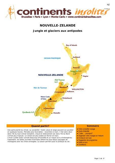 NOUVELLE-ZELANDE - Continents Insolites