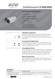Bulletkameraserie ZC-BX8312PBA - CBC CCTV