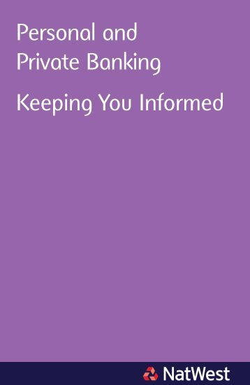 Changes to our Fees leaflet and User Guide for Personal ... - NatWest