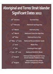 Aboriginal and Torres Strait Islander Significant Dates 2012